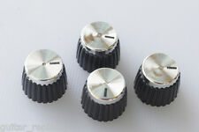 "Knobs Marshall Plateados Amplificador 6'35 mm. 1/4 "" Hole Knöpfe Potenciometro"