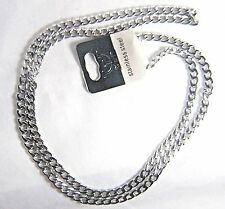 Struttura Mens Stainless Steel 26 Inch Long Curb Link Chain Necklace