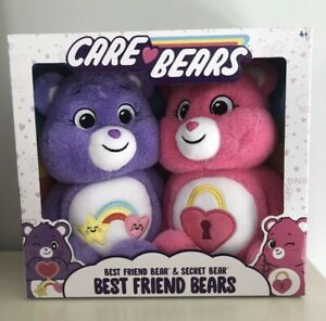Care Bear Best Friend Bears Set Exclusive 2pk Best Friend And Secret Bear NEW