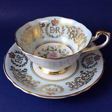Paragon Queen Elizabeth II 1953 Coronation Floral Bone China Tea Cup And Saucer
