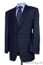 ERMENEGILDO ZEGNA Recent Blue Plaid Check Wool Jacket Pants SUIT BESPOKE - 46 L