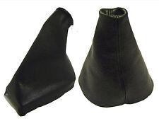 VOLVO V50 Modello 2004 -2012 Cuffia Leva Cambio e Freno 100% Pelle Colore Nero