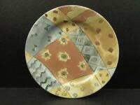 Coffee Shoppe Vanilla Coffee by Sango Salad Plate Zipkin Multicolor Geometric