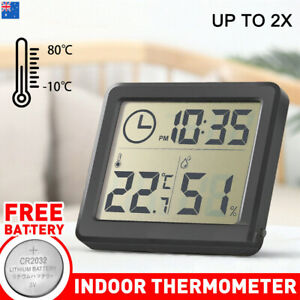 Up to2xDigital Thermometer Humidity Meter Room Temperature Indoor LCD Hygrometer