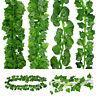 Artificial Ivy Leaf Begonia Garland Green Plants Vine Fake Foliage Home Decor