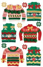Ugly Christmas Sweaters Party Invitations Papercrafts  Paper House 3D Stickers