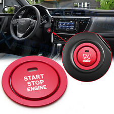 Red Aluminum Start/Stop Engine Button Cover w/ Ring For Toyota Camry 2018-2020