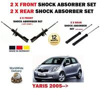 FOR TOYOTA YARIS 1.0 1.3 1.5 1.4 D4D 2005-> 2x FRONT 2x REAR SHOCK ABSORBER SET