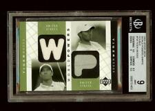 TIGER WOODS 2003 UD Golf World Powers Dual Shirt  WP2-TW BGS 9 #1919