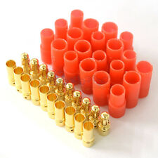 10x Male Female 3.5Mm Gold Banana Bullet Connector Plugs With Housing US
