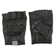 Gants noirs en cuir, taille S pour motocyclette Homme