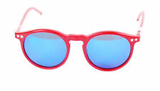 Wildfox Women`s Steff Deluxe Sunglasses Red Frame Blue Glass New BCF512