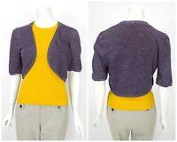 Womens Rivamonti by Brunello Cucinelli 100% Hemp Bolero Cardigan Jumper Size M
