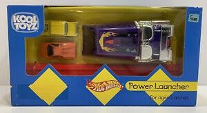 Hot Wheels POWER LAUNCHER 2 Car Set, NIB RARE VHTF with Lamborghini and 57 Chevy