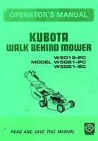 KUBOTA W5019 W5021 W5021 Walk Mower Operators Manual