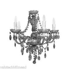 House additions princesse 5 light chandelier, finition: noir