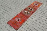 turkish runner,2x9 ft,Turkish Rug,Anatolian Rug,Bohemian,Vintage rug,Oushak Rug