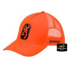 NEW BROWNING CENTERFIRE SNAP BACK BLAZE ORANGE BALL CAP HAT BUCKMARK LOGO