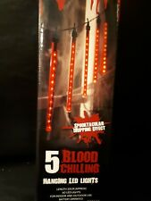 Christmas 5 x Red Hanging LED Lights/In/Outdoor lights/Halloween