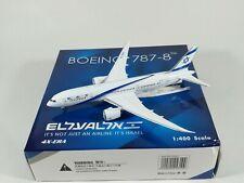 EL AL AIRLINES Boeing 787-8 Dreamliner Metal Aircraft Model 1:400 Scale Phoenix
