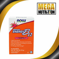 NOW Foods Vitamin B-12 Instant Energy 75 Pks-75g | Nervous System Health Complex