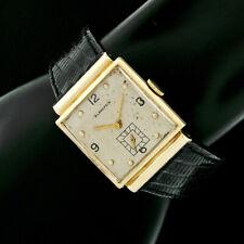 Vintage Mens Blancpain 25.1mm 14k Yellow Gold Manual Wind 17j Square Wrist Watch