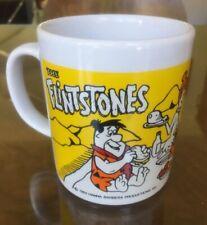The Flintstones White Yellow Orange Ceramic Mug
