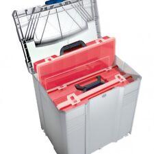 TANOS Sortimentbox-systainer® T-loc V grau. mit 4 roten Sortimentboxen  80500023