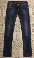 🎼 Rock Revival Womens Jeans -Jen-Skinny-Flap Pocketed Sz 25 GUC #8