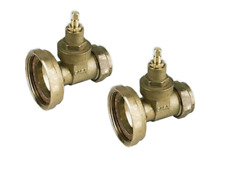 CENTRAL HEATING 28MM PUMP GATE VALVE TYPE BRASS WASHERS NUTS OLIVES 1 PAIR
