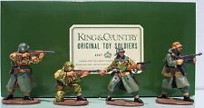 KING & COUNTRY WW2 GERMAN ARMY WS017 FOUR SUMMER PANZER GRENADIERS ATTACKING MIB