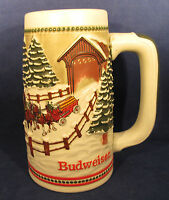 Anheuser-Busch Budweiser Stein 1984 Clydesdales Passing Through Covered Bridge