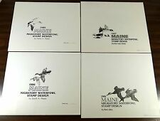 MAINE DUCK STAMPS PRINTS 1985 1986 1987 1988 Signed Matched Numbered Ltd Edition