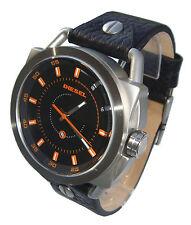 Diesel Descender Analog Black Leather Men's Watch - DZ1578