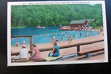 Blairsville GA Vogel State Park Beach Scene Postcard c1940