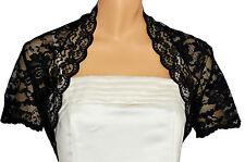 Black Lace Short Sleeve Bolero Shrug Sizes 8-26 12