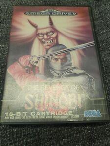 Revenge of Shinobi, Sega Mega Drive game with box and manual