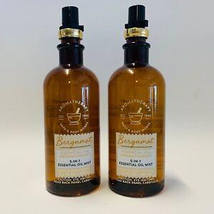 2 Bath & Body Works Bergamot 5-in-1 Aromatherapy Essential Oil Mist 5.3 oz