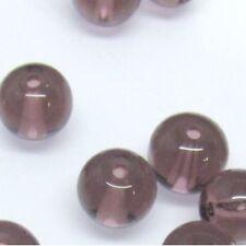 100 x 6 mm verre cristal perles rondes-Pale Amethyst a3641