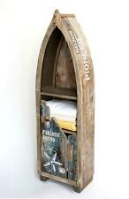 Regal Boot Schrank Bootsform Holz antik 7309 maritim Badregal Badschrank braun