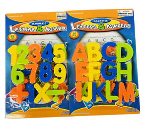 52 Pc Magnetic Letters & Numbers for Toddlers Plastic Alphabet ABC 123 Magnets