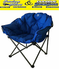BBQ moon round oval camp chair seat XL fishing outdoor 150kg WEIGHT RATING CC10