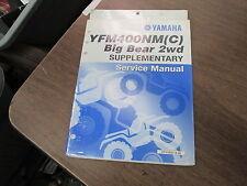 Yamaha Factory Supplement Service Manual 2000 YFM400NMC Big Bear LIT-11616-13-34