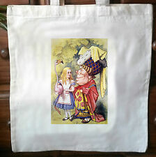 Alice In Wonderland eco friendly Cotton vintage Tote Bag Shopper Bag 05
