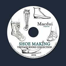 Shoe Making Vintage Books Collection 55 PDF E-Books on 1 DVD, Design, Patterns