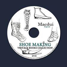 Shoe Making Vintage Books Collection 55 PDF E-Books on 1 DVD, Design, Patterns