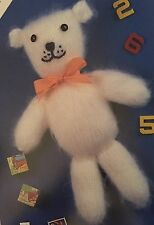Ct8 Knitting Pattern - Children's Teddy Bear In Brushed Soft Yarn