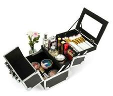 Pro Aluminum Makeup Train Case Jewelry Box Cosmetic Organ with Mirror & Key US
