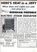 1948 Print Ad Burnham Portable Electric Steam Radiators Irvington,NY