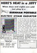 1948 Print Ad Burnham Portable Electric Steam Radiators Irvington,NY